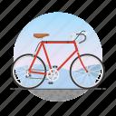 bicycle, bike, circle, racing bike, road bike, ten speed bike