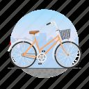 bicycle, bike, circle, girl's bike, women's bike