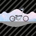 ape-hanger, banner, bicycle, bike, chopper icon
