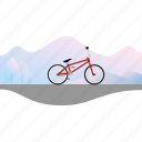 banner, bicycle, bike, bmx, freestyle, racing icon