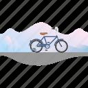banner, bicycle, bike, children's bike, kid's bike, training wheels icon