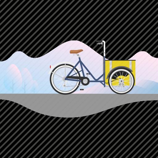 banner, bicycle, bike, cargo bike, delivery bike, nihola icon