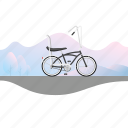 banana seat, banner, beach cruiser, bicycle, bike icon