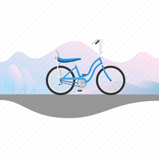 Banana seat, banner, bicycle, bike, girl's bike icon - Download on Iconfinder