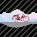 banner, bicycle, bike, girl's bike, women's bike icon