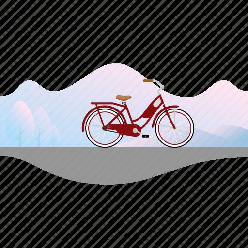 Banner, bicycle, bike, girl's bike, women's bike icon - Download on Iconfinder