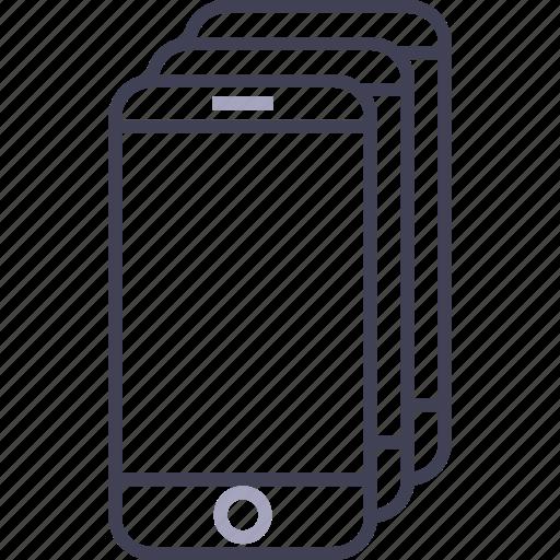 apple, iphones, phones, smartphones, stacked icon