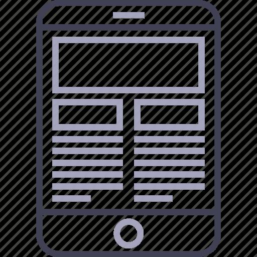 apple, device, ipad, tablet, web icon