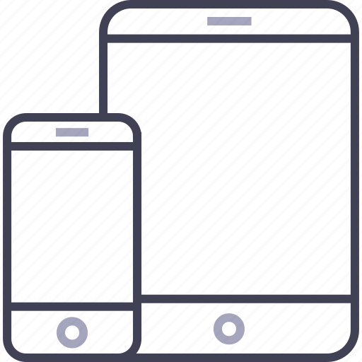 apple, ipad, iphone, phone, responsive, smartphone, tablet icon