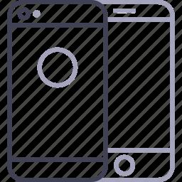 apple, back, camera, iphone icon