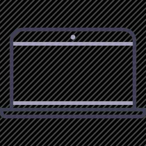 apple, blank, computer, laptop, macbook icon