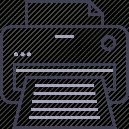 copier, document, office, print, printer icon