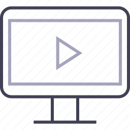 display, play, screen, television, tv icon