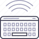 bluetooth, keyboard, type, wireless icon