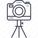 camera, digital, multimedia, photo, tripod icon