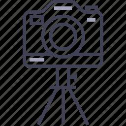 camera, digital, multimedia, photo, tripod icon