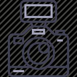 camera, digital, dslr, flash, multimedia, photo icon