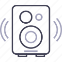 audio, multimedia, music, speaker icon