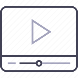 film, movie, multimedia, play, player, video icon