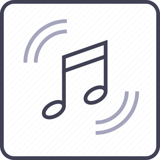 audio, file, multimedia, music, note, play icon