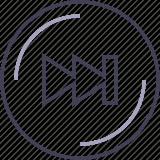 controls, fast, forward, multimedia, player icon