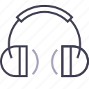 earphones, headphones, listen, multimedia, music, song icon