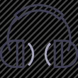 earphones, headphones, listen, multimedia, music, song icon