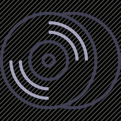 cd, disc, multimedia, music, record, vinyl icon