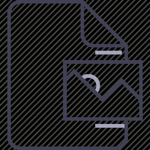 document, file, image, multimedia, picture icon