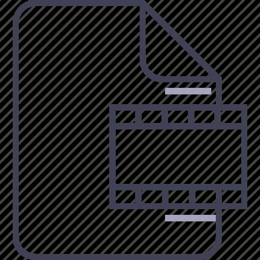 avi, document, file, film, movie, multimedia, video icon