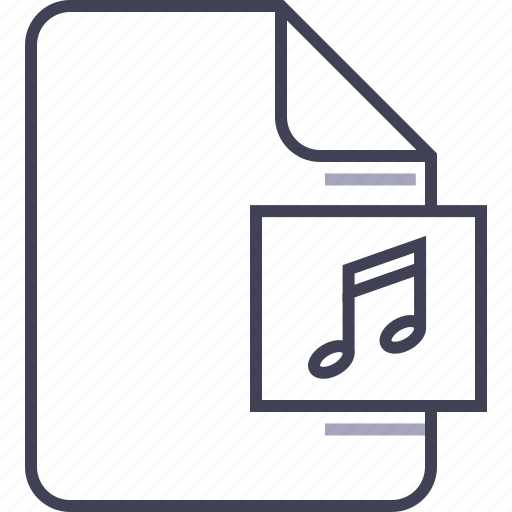 audio, document, file, mp3, multimedia, music, song icon