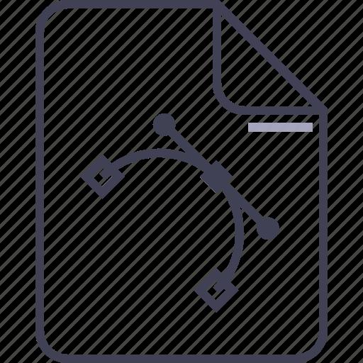adobe, file, illustrator, multimedia, pen tool, vector file icon