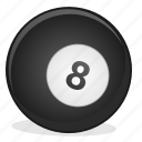 american, ball, billiard, eight, game icon