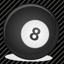 american, ball, billiard, eight, game icon