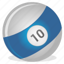 american, ball, billiard, game, ten icon