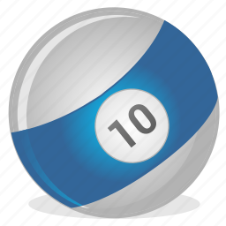 american, ball, billiard, game, ten icon