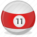 american, ball, billiard, eleven, game icon