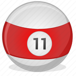 american, ball, billiard, eleven, game icon