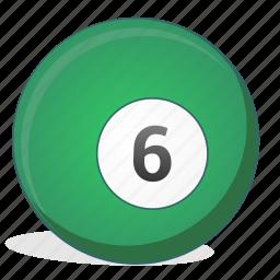 american, ball, billiard, game, six icon