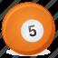 american, ball, billiard, five, game icon