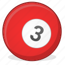 american, ball, billiard, game, three icon