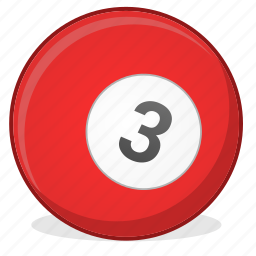 american, ball, billiard, game, three icon