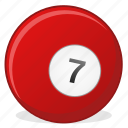 american, ball, billiard, game, seven icon
