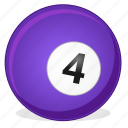 american, ball, billiard, four, game icon
