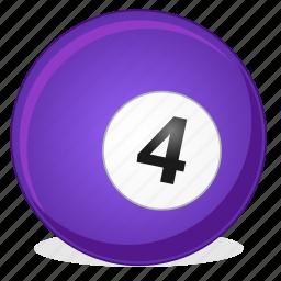 american, ball, billiard, four, game icon