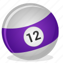 american, ball, billiard, game, twelve icon