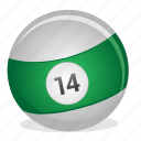 american, ball, billiard, fourteen, game icon