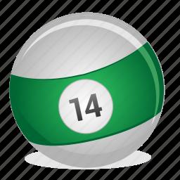 american, ball, billiard, fourteen, game icon