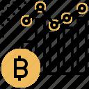 bar, bitcoin, chart, graph, line icon
