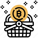 basket, bitcoin, buy, online, shopping